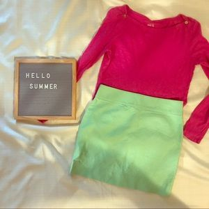 Hot pink j Crew long sleeved tee